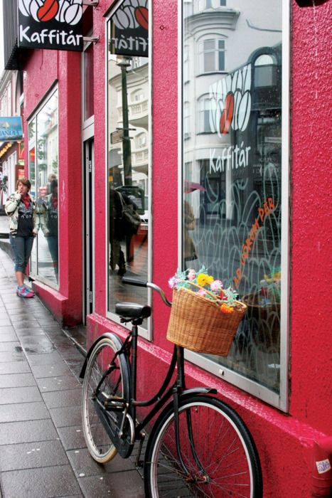 Pit stop at coffee house. Reykjavik. Iceland.
