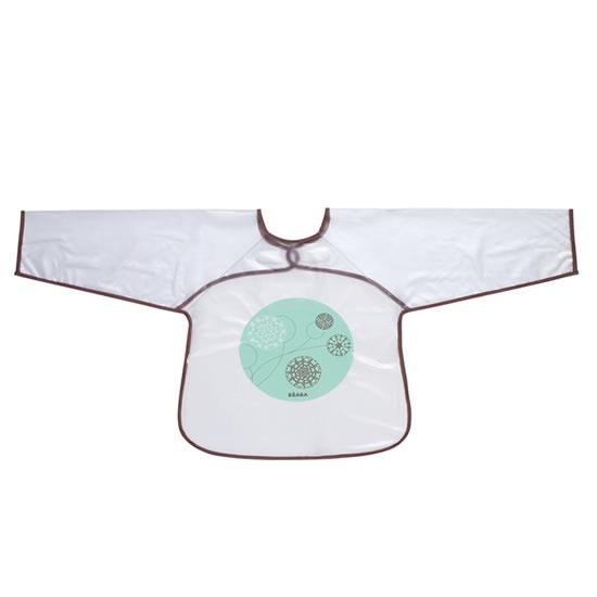 Babero con mangas, impermeable y ajustable gracias al cierre de velcro. ¡A prueba de bebés intrépidos! ;)