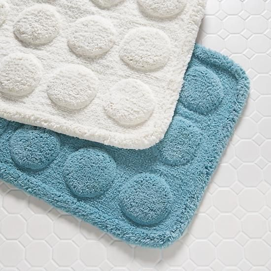 The Land Of Nod | Kids Bathroom Accessories: Kids Raised Circle Pattern Bath  Mat In