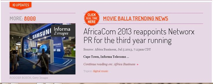 #AfricaCom 2013 reappoints #NetworksPR for the third Year running
