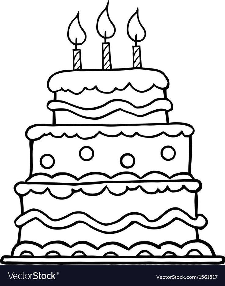 20 Creative Picture Of Birthday Cake Cartoon Birthday Cake