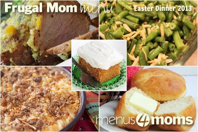 Menus4Moms Free Easter Menu.  So many great idea's!