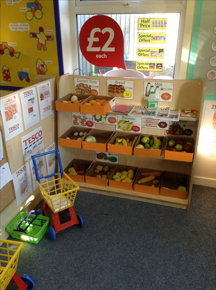 My new role play Tesco. The children love it!