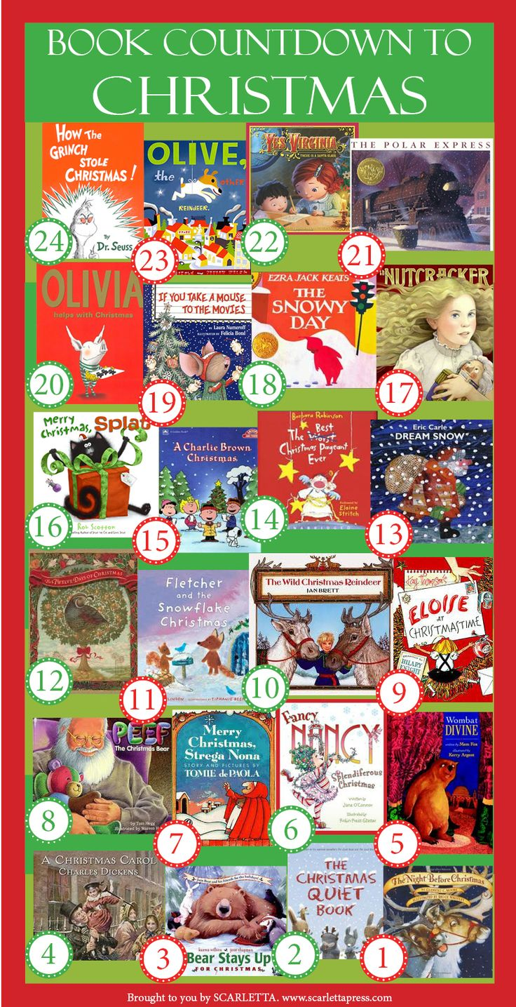 Christmas Advent Calendar—In Books! I'm going to buy all of these books and start a new tradition!!! :)