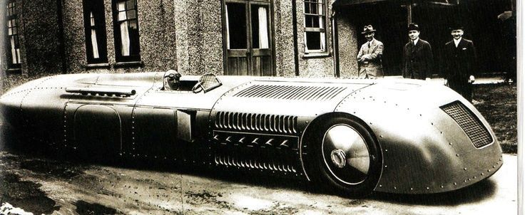 Major Henry Segrave in 'Sunbeam' the car in which he was to break the world land speed record in March with an average speed of over 200mph - 24 January 1927