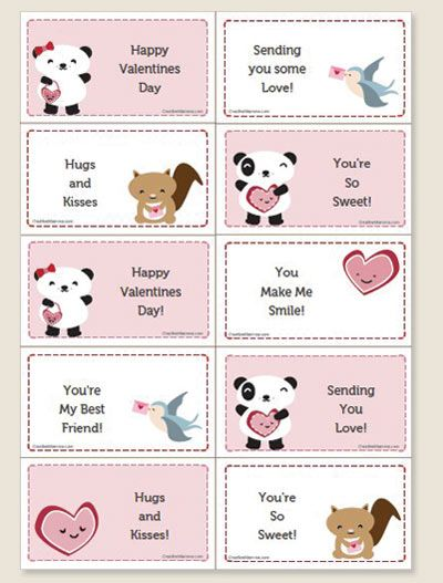 Cute Free Printable Valentines Entertaining And Holiday Ideas