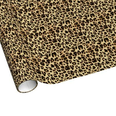 Stylish Leopard Animal Print Gift Wrapping Paper