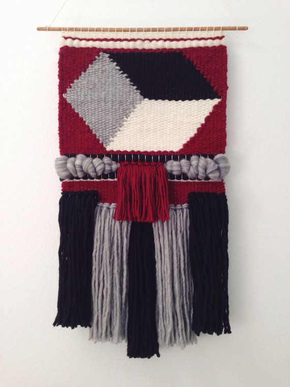 Hand Woven Wall Hanging / Tapestry / Weaving // by WovenLaine, $175.00