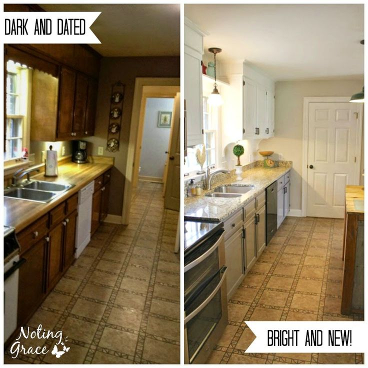 DIY Farmhouse Kitchen Remodel: Noting Grace  Great tips on how to save big on a major kitchen remodel.  They only spent $5000 including appliances and countertops!