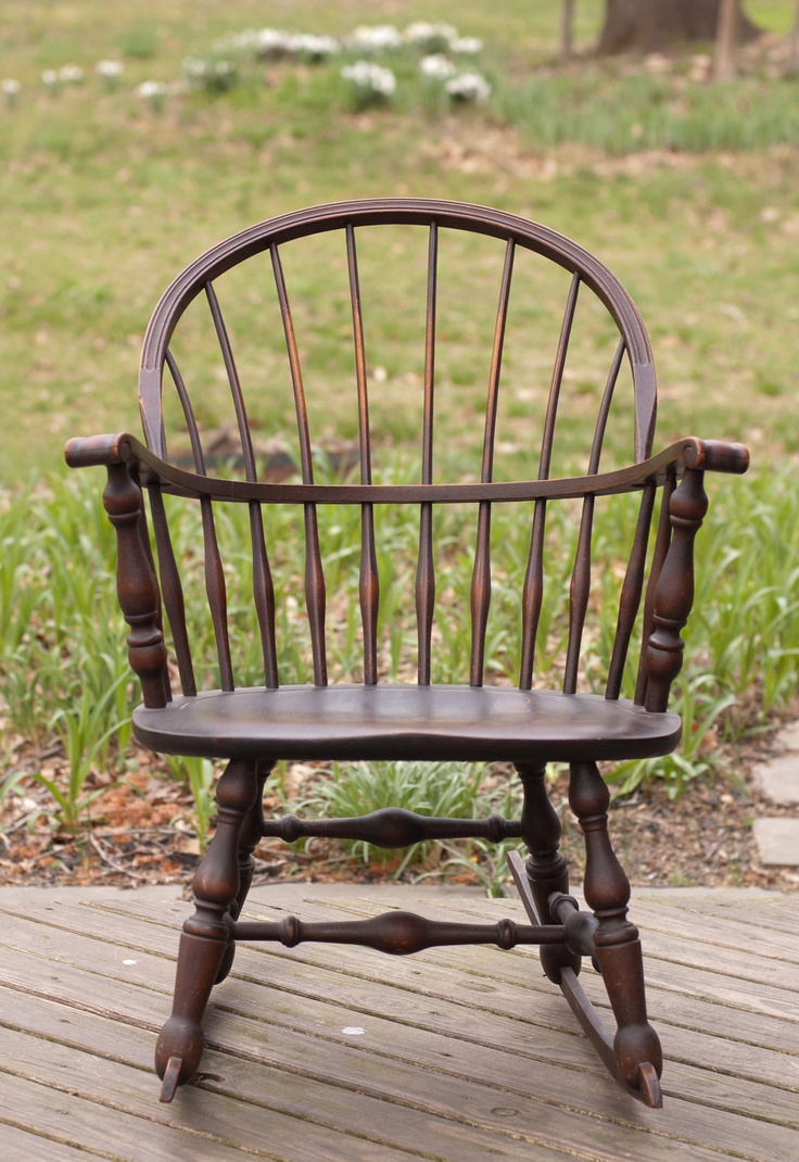 Vintage 1930 Nichols & Stone Windsor Rocking Rocker Chair
