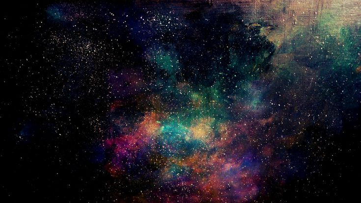 Mixed media galaxy painting a dream inside a dream the for How to paint galaxy