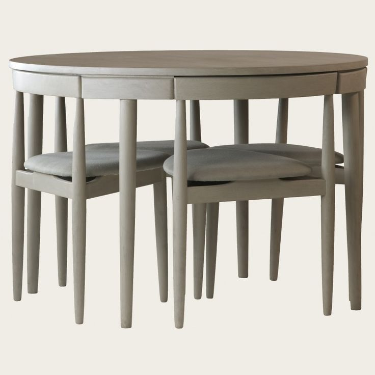 Round Table With Four Chairs Three Legs Would B Nice To Save Room Chelsea Textilessmall Kitchen