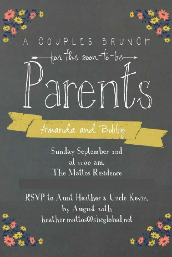 "Couples invite...could turn into a family invite ""For the soon to be parents and big sister?* Maybe"""