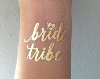 Bride Tribe Tattoo Bachelorette Party Temporary by prettychicsf