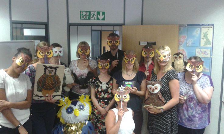 Nottingham office party. Spot the owl.