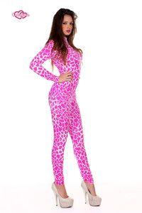 Contagious Clubwear Nicki Minaj Giraffe Pink Catsuit UK 6 14 Costume Fancy Dress | eBay LOL