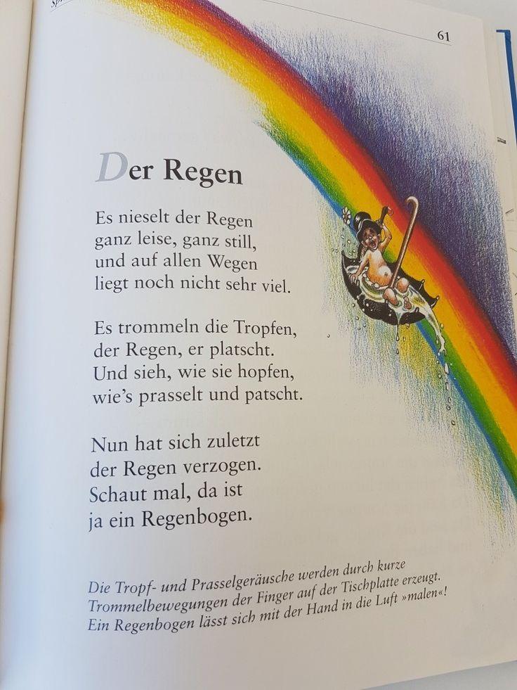 Der Regen Fingerspiel Krippe Kita Kindergarten Kind Reim