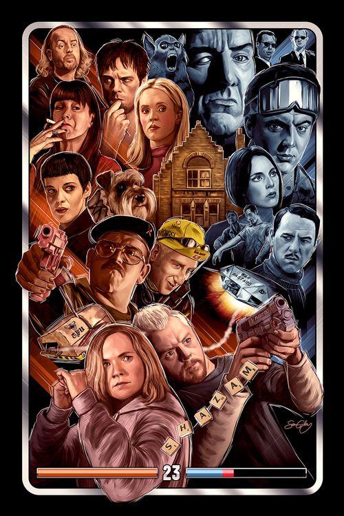 Great Series of Edgar Wright Movie Inspired Art