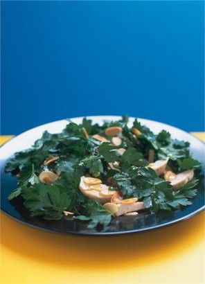 Chicken Almond and Parsley Salad. So simple and so yummy sounding.