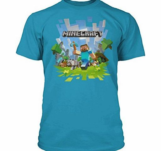 Jinx / Fashion UK Boys Minecraft T-shirt | Mine Craft Tshirt | Adventure Logo with Steve (9-10 Years, Teal Blue) Boys Minecraft T-shirt. Excellent quality boys t-shirt. Official Jinx Minecraft Licensed Products, UK sizing, produced by Fashion UK (Barcode EAN = 5060351096355). http://www.comparestoreprices.co.uk/kids-clothes--boys/jinx--fashion-uk-boys-minecraft-t-shirt-|-mine-craft-tshirt-|-adventure-logo-with-steve-9-10-years-teal-blue-.asp