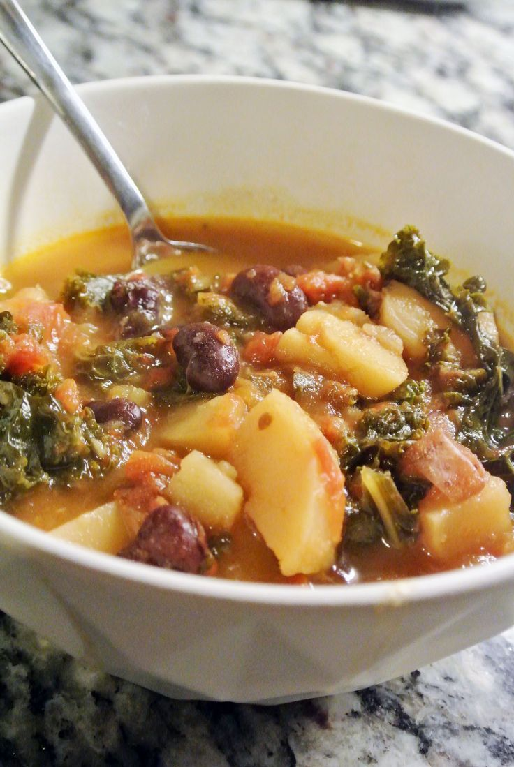 YUM! Portuguese Kale and Chorizo Soup Slow Cooker Recipe!