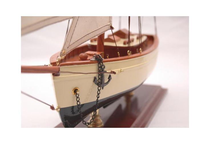 Classic Sailboat Decoration Ivory