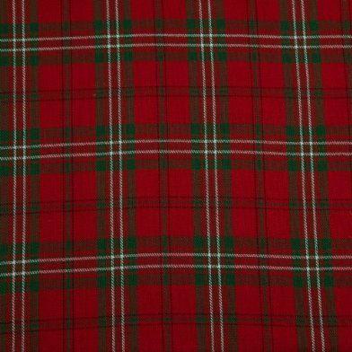 Pure Cotton Red Green Edward Tartan Check Curtain Fabric ...