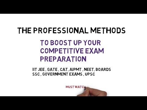 CRAZY INDIAN - Tips for Competitive Exam Preparation - IIT JEE CAT UPSC CAT AIPMT GATE