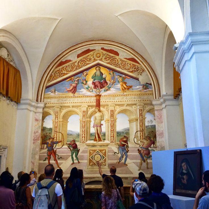 """Panicale con visita all'affresco del Perugino """"San Sebastiano"""" foto di @ladyzeta"""