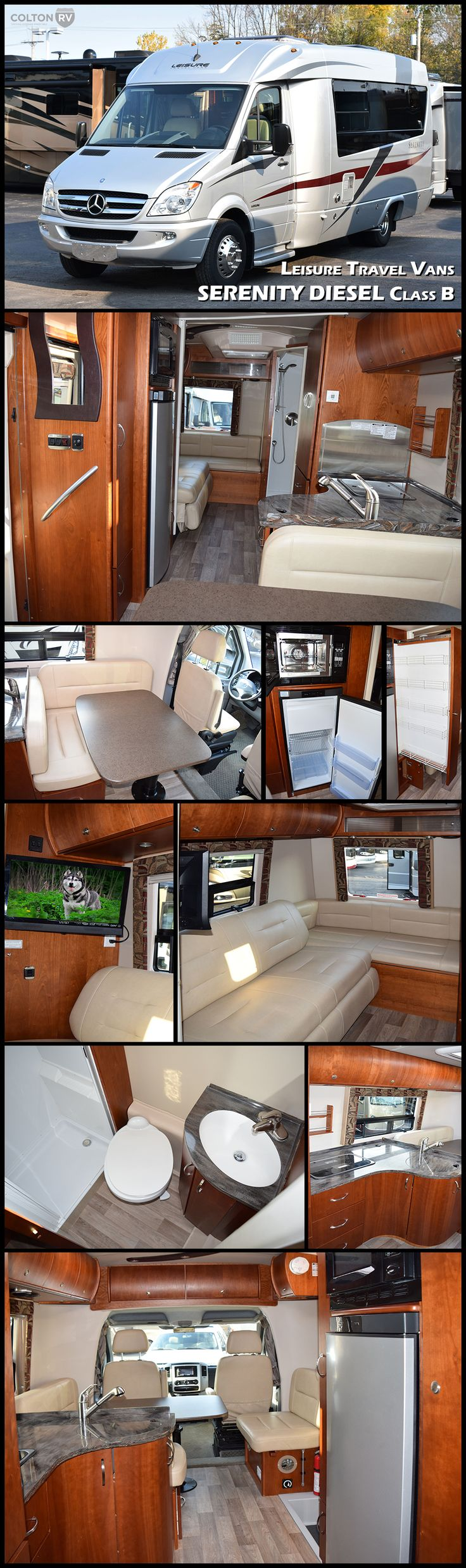 Van Conversion Sink Powered By Mercedes Benz The LEISURE TRAVEL VANS SERENITY DIESEL Class B Motorhome Is