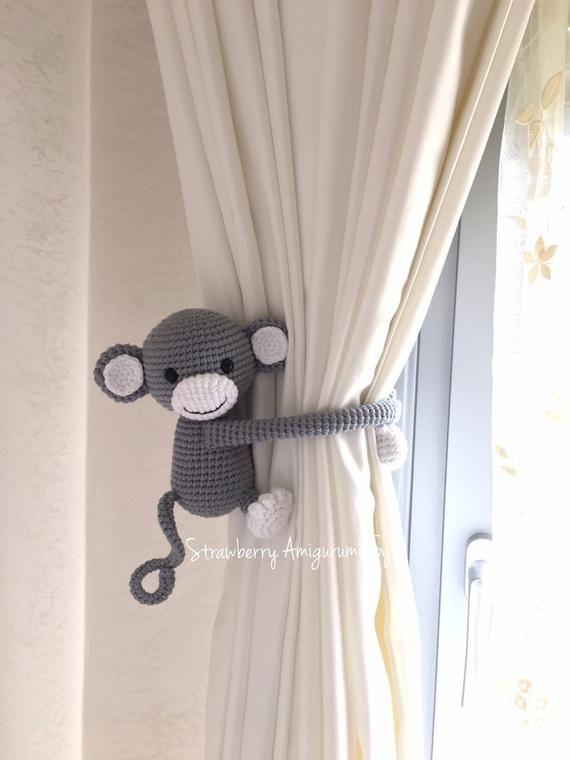 Monkey curtain tieback pattern by Nice and Cosee | Amigurumi ... | 760x570