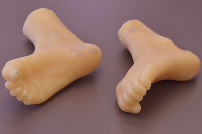 Cast wax feet