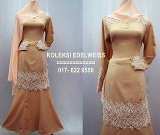 Baju Kurung Moden Lace  Terkini 2016 Koleksi Hari Raya