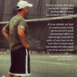 Tennis Quote. I love this because not only is it an amazing, true, quote, I play and love tennis!