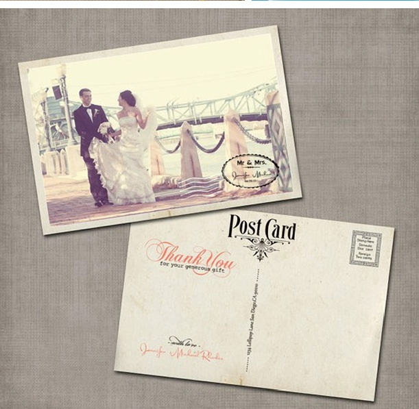 What a cute thank you card idea. Love the vintage look!