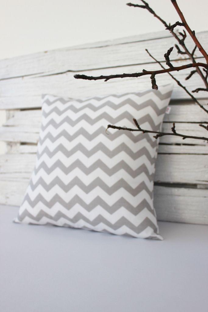 grey chevron pillow