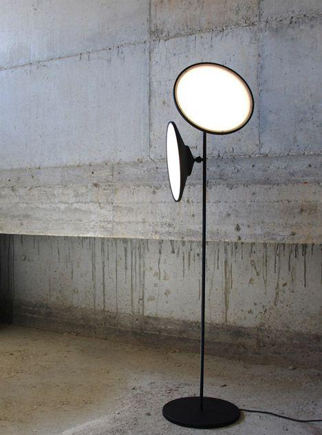 Nir Meiri's double-headed 2 Moons lamp mimics celestial bodies
