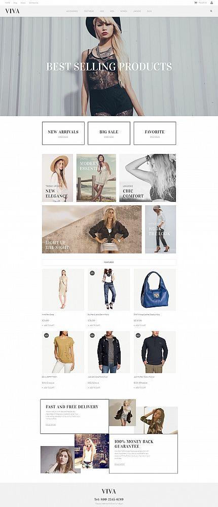 VIVA - #Fashion #Store #responsive #MotoCMS #ecommerce  #template