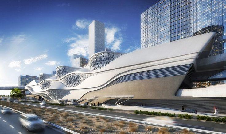 King Abdullah Financial District Metro Station Zaha Hadid Rihad Arabia Saudita