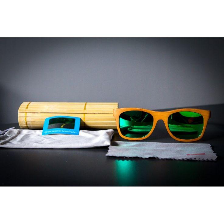 Bambusové drevené slnečné okuliare