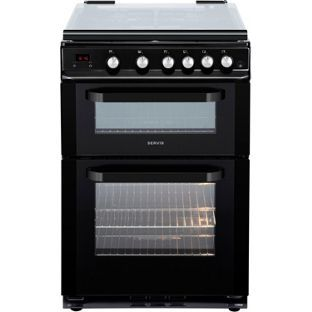 buy servis dg60b double gas oven black at. Black Bedroom Furniture Sets. Home Design Ideas