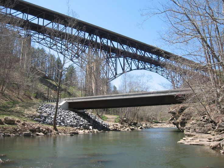 "Bluestone River Bridge - Virginia Occidentale, Stati Uniti. 37° 28' 43.74"" N  81° 4' 14.41"" W"