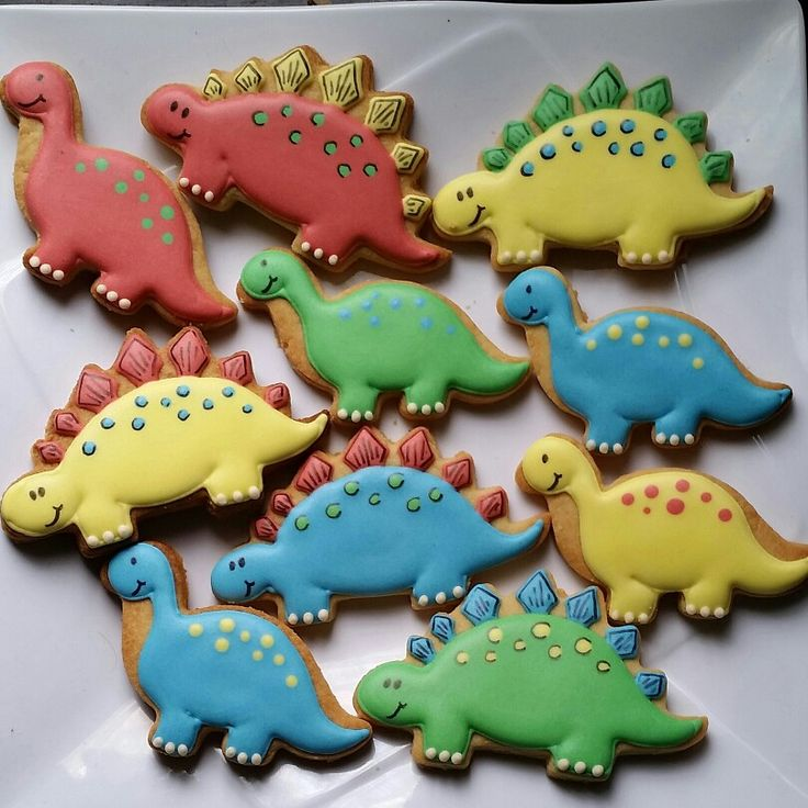 Simple dinasour cookies