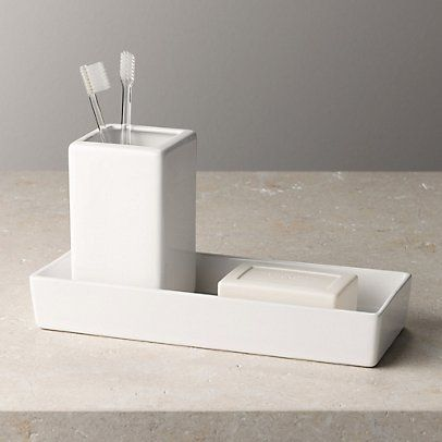 Ceramic Rectangular Container - White | The White Company