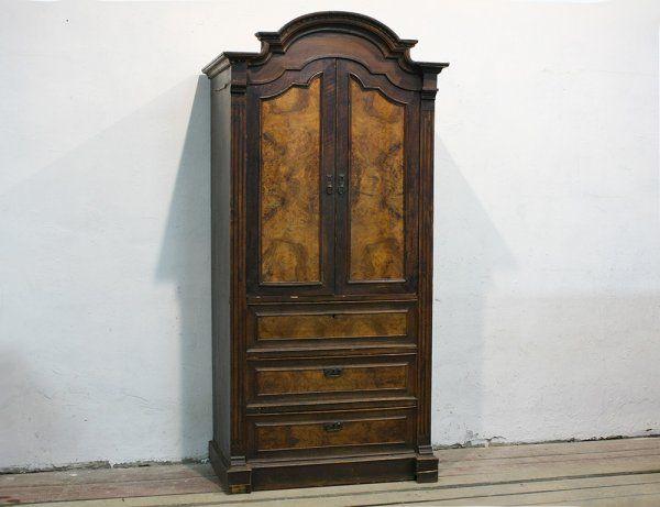 Антикварный шкаф-монашка, 19в