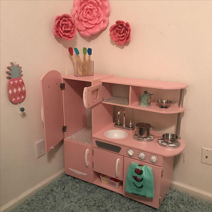 Kidkraft kitchen toddler rose vintage theme pink Ombré pots pans hobby lobby