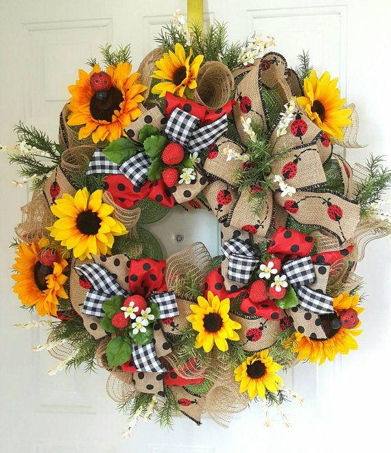 Fall Sunflower Burlap Wreath, Elegant Fall Wreath, Fall Decor, Autumn Mesh Wreath, Front Door Wreaths, Harvest Wreath, Front Door Decor