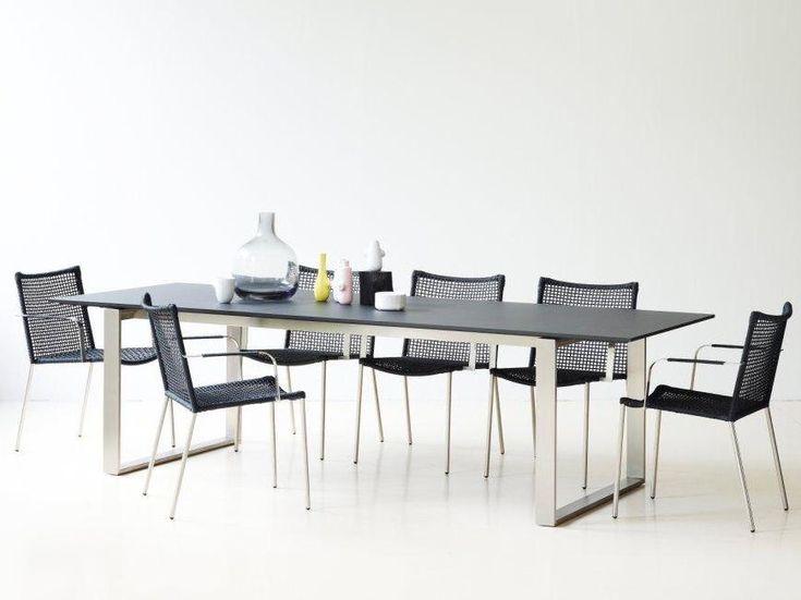 STRAW nowoczesne krzesła i stół EDGE. Kolekcja Made by Nature Cane-line