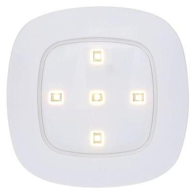 Light It!, White Wireless Remote Control LED Puck Light