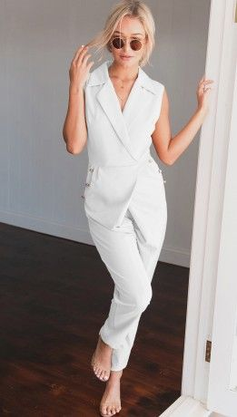 White Love for YOU! Autum casual overalls New Arrivals | ChicDiva